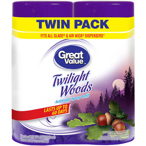 Great Value Twilight Woods Automatic Spray Refills, 6.17 oz, 2 count