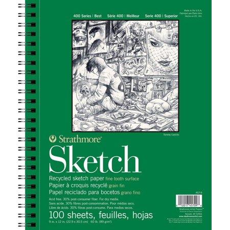 457-9 400 Series Recycled Sketch Pad, 9