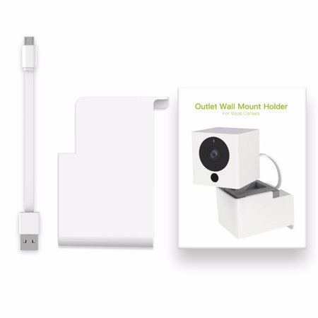 Wyze Pan Camera and iSmartAlarm Spot Camera without Messy Wires or Wall  Damage,Outlet Wall Mount Hanger Stand(DO NOT INCLDUE THE CAMERA)
