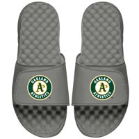 Oakland Athletics ISlide Youth Primary Logo Slide Sandals - Gray