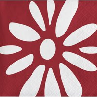 """Club Pack of 240 Maroon and White Premium 3-Ply Disposable Beverage Napkin 5"""""""