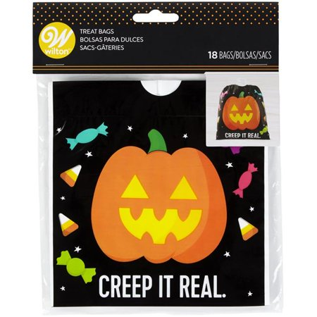 Drawstring Treat Bags 18/Pkg-Pumpkin Creep It (Real Housewives Of Miami Marysol Mother Plastic Surgery)