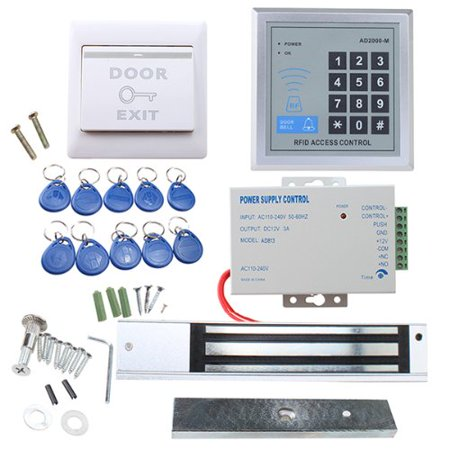 Agptek Rfid Door Access Control System Kit 620lbs Magnetic Lock