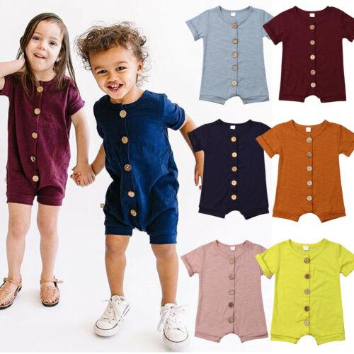Baby Girl Romper,Fineser Newborn Infant Baby Girl Long Sleeve Solid Denim Romper Bodysuit Jumpsuit Denim Clothes