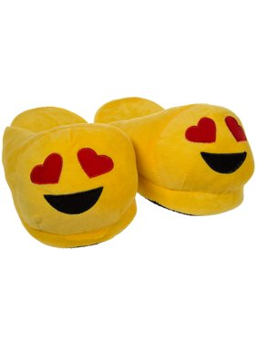 c71027799b365a Product Image Emoji House Slippers Funny Soft Plush For Adults Kids Teens  Bedroom Smiley Comfy Socks Womens Girls