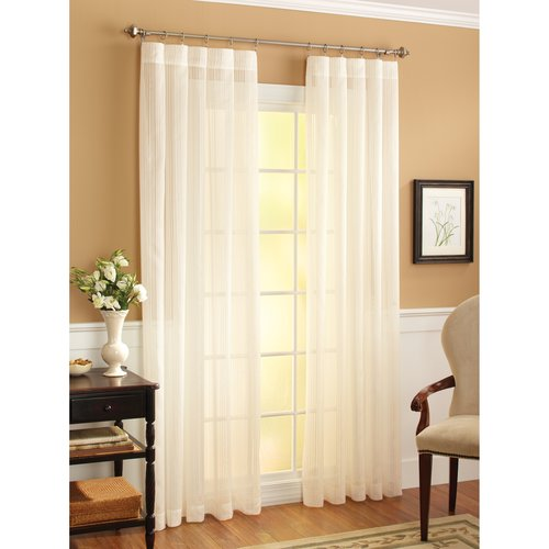 Better Homes and Gardens Shannon Window Curtain Panel, Ivory
