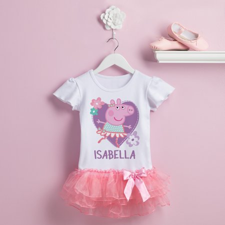 Personalized Peppa Pig Ballerina Tutu Tee - Pepper Pig Birthday