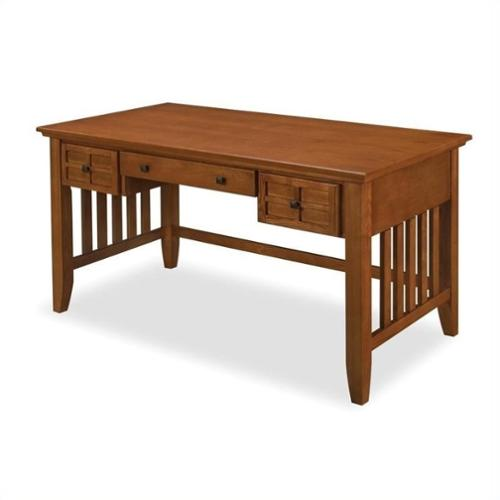 Home Styles Arts & Crafts Executive Desk - Cottage Oak