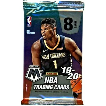 NBA Panini 2019-20 Prizm Mosaic Basketball Trading Card MEGA Pack [8 Cards!]