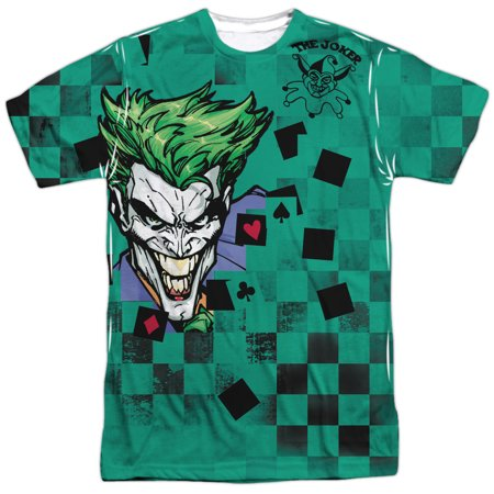 Batman Cartoon TV Series Movie Joker A Boxed Clown Adult Front Print T-Shirt - Batman Items For Adults