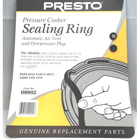 09902, Pressure Cooker Sealing Ring Gasket For 6 Qt Fits Presto 706