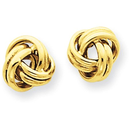 14kt Yellow Gold Love Knot Post Earrings