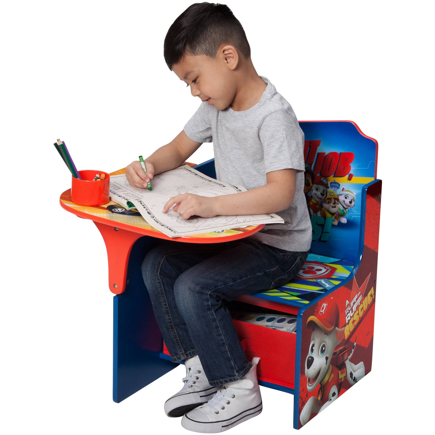 Image of: Nick Jr Paw Patrol Chair Desk With Storage Bin By Delta Children Walmart Com Walmart Com