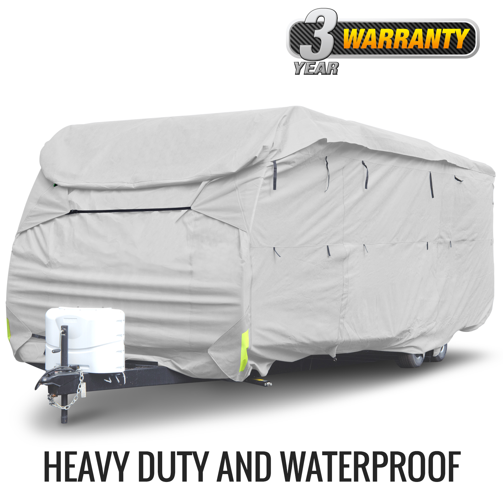 Budge Premier Toy Hauler or Travel Trailer Cover (Gray) Size A Up to 21' Long