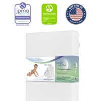 Evolur Sleep Comfort Lite Plus With Natural Fiber Crib And Toddler Mattress, Waterproof Removable Cover