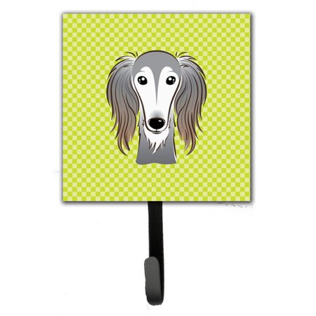 Caroline's Treasures Checkerboard Saluki Leash Holder and Wall Hook