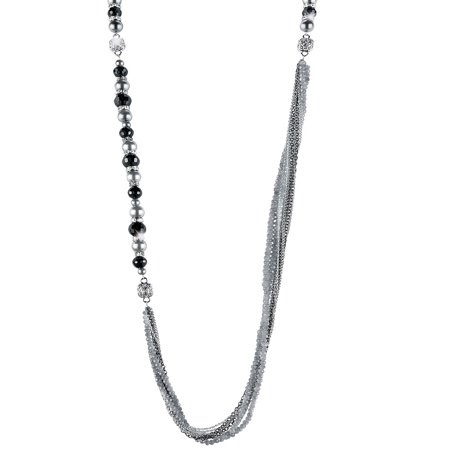 Women's Interchangeable Beaded Necklace, Black