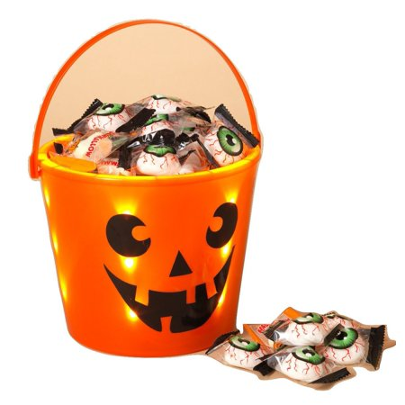 Halloween Trick or Treat Light Up Bucket, LED Trick or Treat Bucket By Gerson