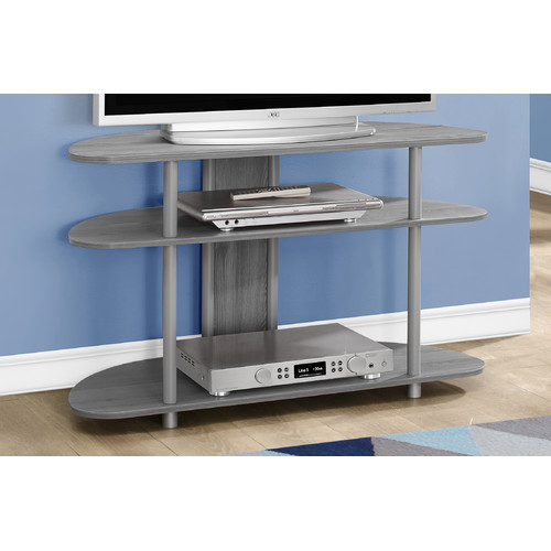 "MONARCH - TV STAND - GREY WITH SILVER ACCENT - FOR TV'S UP TO 40""L"
