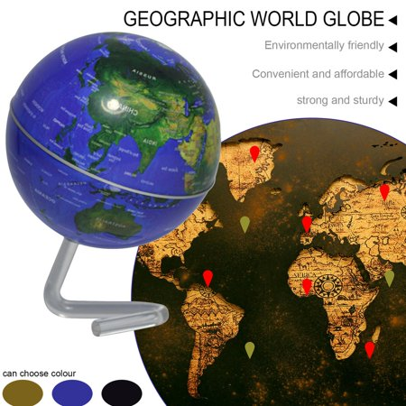 """4"""" Self-Rotating Geography World Globe World Map Ornaments Home Office Decor blue - image 6 of 8"""