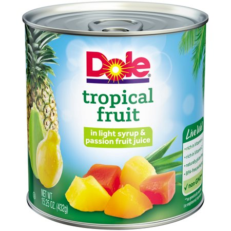 Dole Tropical Fruit in Light Syrup & Passion Fruit Juice 15.25 oz. Can - Fruit Of The Sea