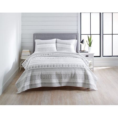 Better Homes & Gardens Embroidered Stripe King Quilt