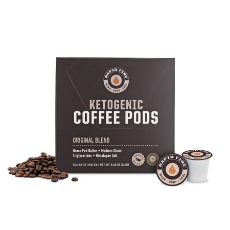 Rapid Fire Ketogenic Coffee Pods, 8.5 Oz, 16 K-Cup Pods
