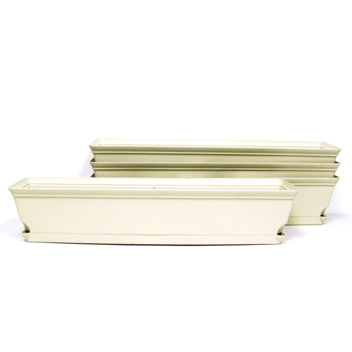 Missry Associates MIAWB3054072 Misco 30 inch Self Water Flare Window Box Latte