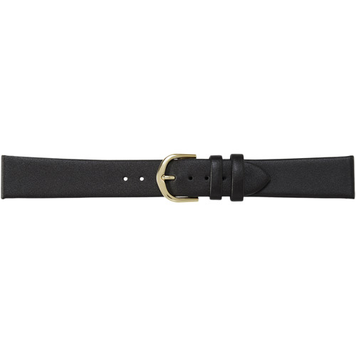 Timex Men's 18mm Genuine-Leather Replacement Watch Band, Black