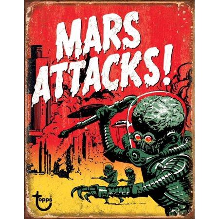 Attack Cat Sign (Mars Attacks Tin Sign - 12.5x16 )