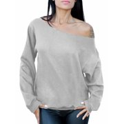 Awkward Styles Women's Off the Shoulder Slouchy Oversized Sweatshirt Sexy Off the Shoulder Sweater Pullover Off Shoulder Tops for Women
