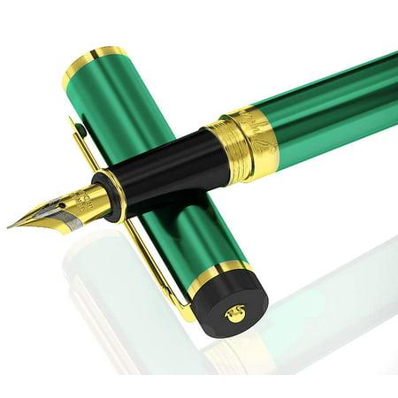 DRYDEN Luxury Fountain Pen with Ink Refill Converter EMERALD GREEN