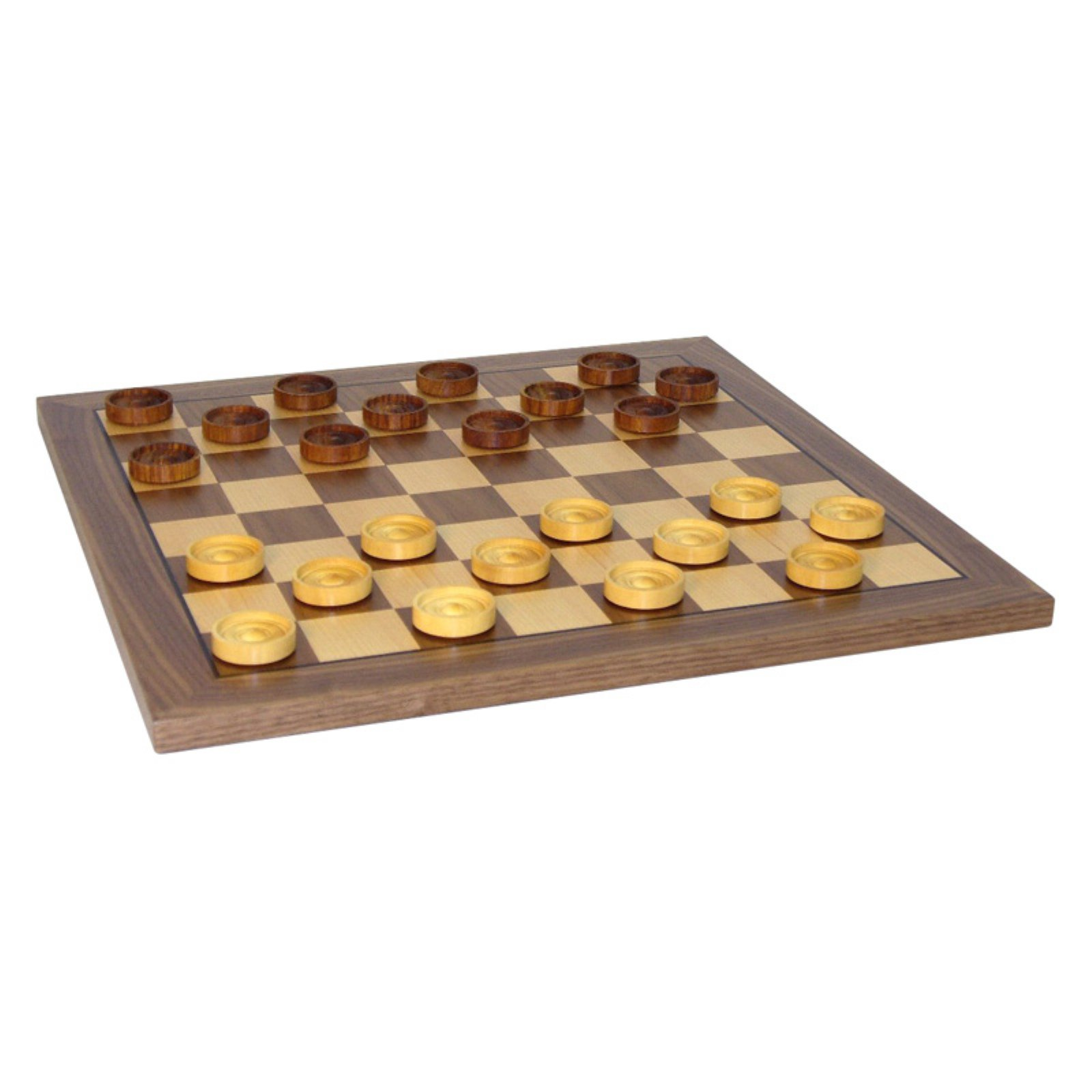 14 in. Wooden Checkers Set by