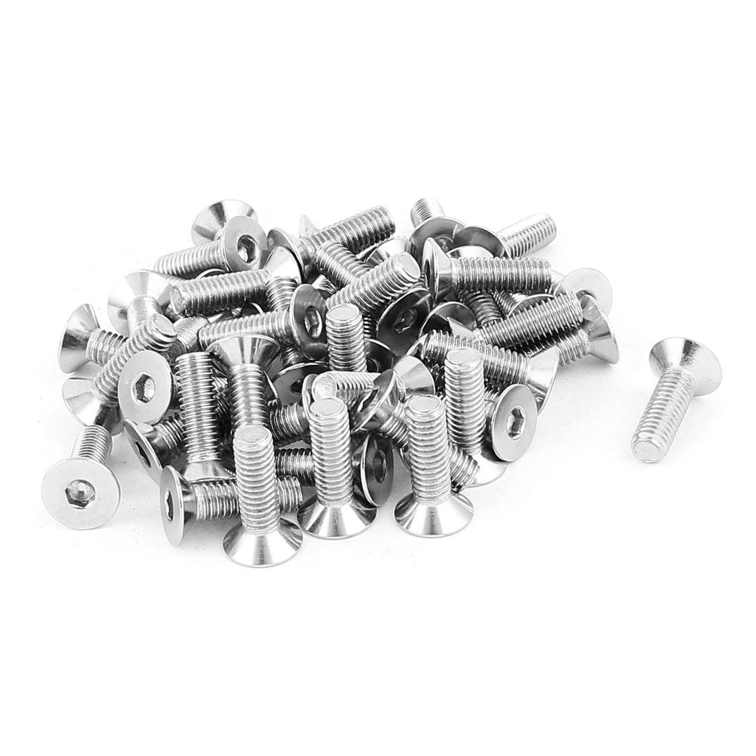 Pack of 20 M4 12mm Pan Round Head Hex Socket SS Screw Bolt T-Slot Aluminum