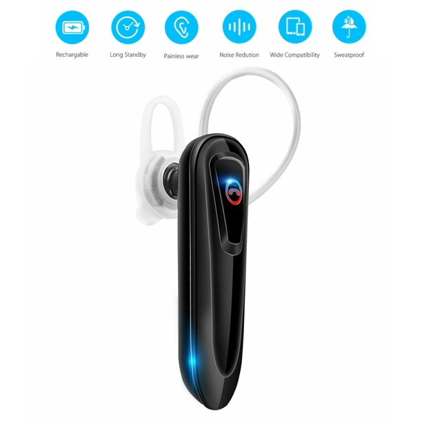 Bluetooth Headset Wireless Business Earpiece V5 0 Lightweight Noisy Suppression Bluetooth Earphone With Microphone For Phone Laptop Car Walmart Com Walmart Com