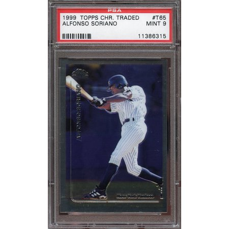 05 Topps Chrome Rookie Card - 1999 topps chrome traded #t65 ALFONSO SORIANO new york yankees rookie card PSA 9