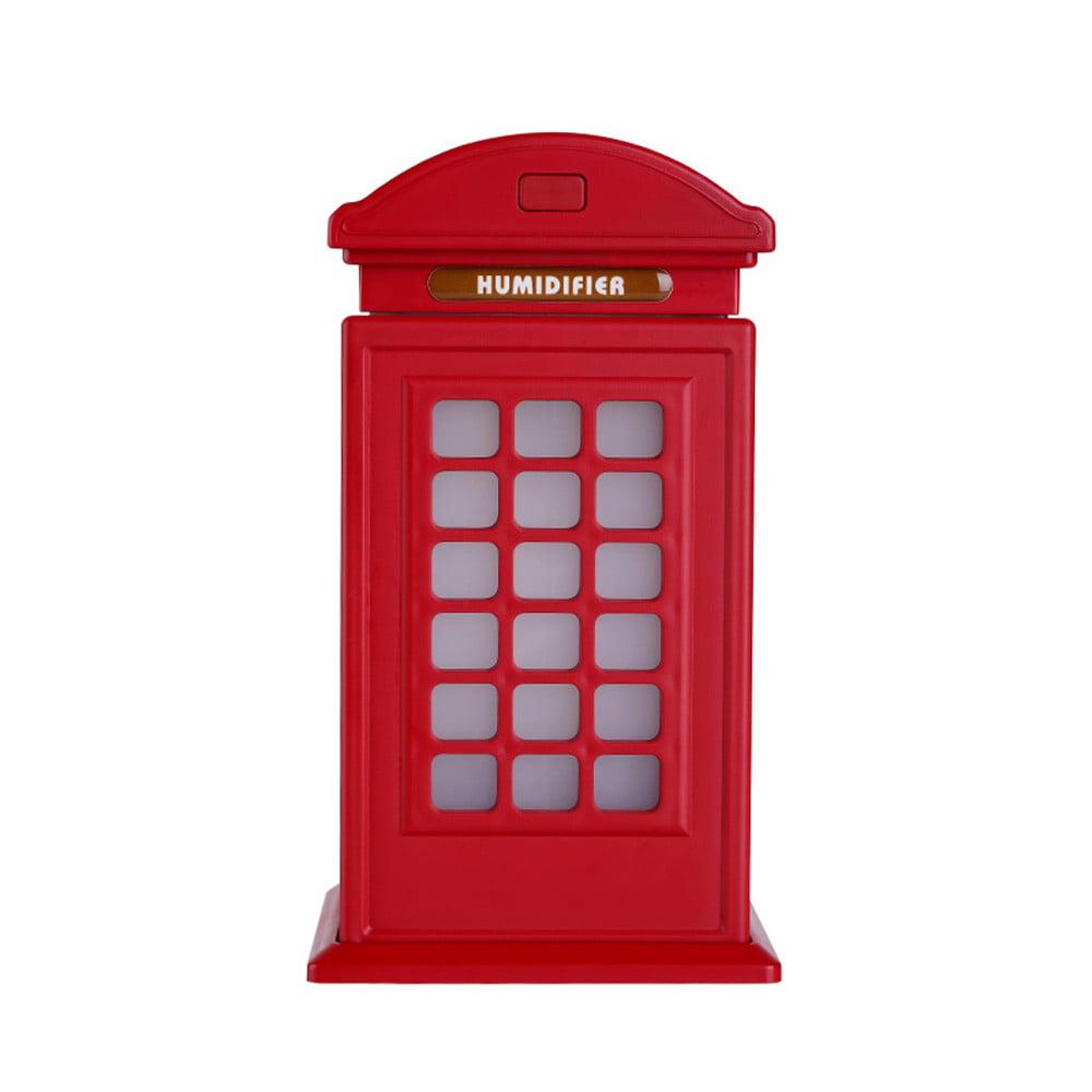 Creative Telephone Booth Humidifier Large Capacity Humidifier Retro Art Ornament