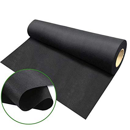 Agfabric Landscape Fabric Weed Barrier Ground Cover Garden Mats for Weeds Block in Raised Garden Bed,Black, 4 Ft X 250 Ft