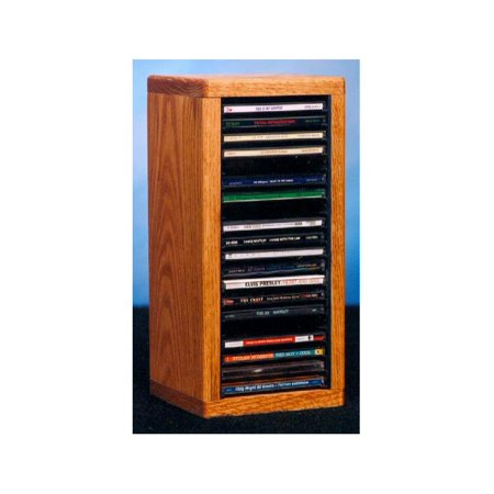 6.75 in. Desktop CD Storage (Honey Oak)