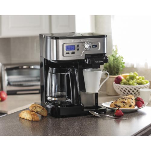 Hamilton Beach  Black Programable 2-Way Brewer Coffee Maker