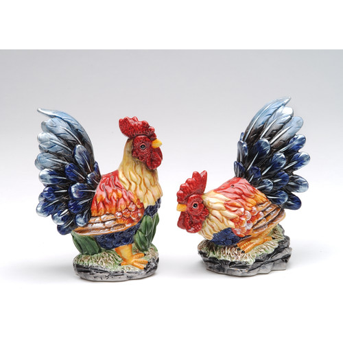 Cosmos Gifts Rooster Salt and Pepper Set