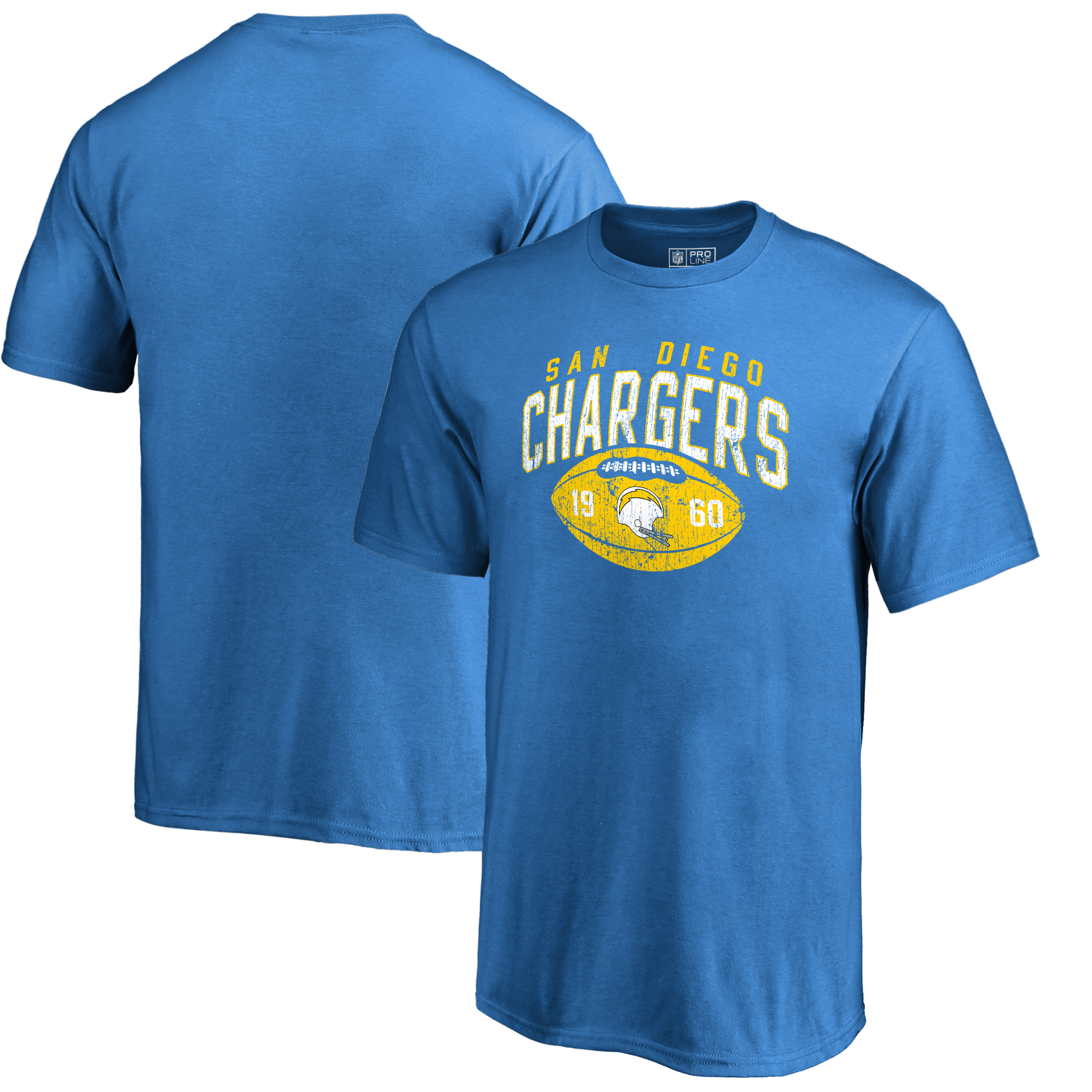 Los Angeles Chargers NFL Pro Line by Fanatics Branded Youth Throwback Collection Coin Toss T-Shirt - Blue
