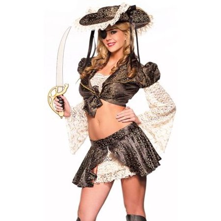Sexy Adult Womens Halloween Costumes Pirate Wench Buccaneer Ensemble Costume Theme Party Outfit