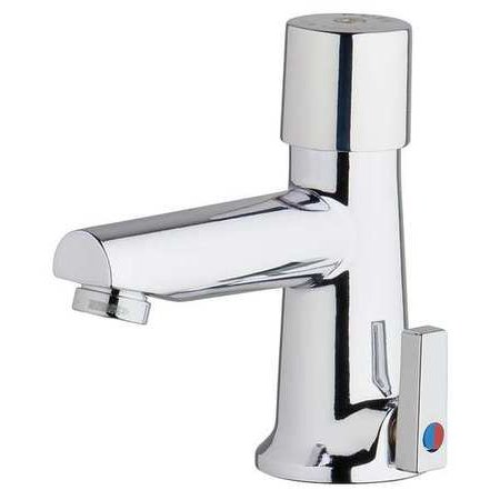 CHICAGO FAUCETS Metering Faucet,Metering,0.25gpc,Deck - Push Button Metering Faucet