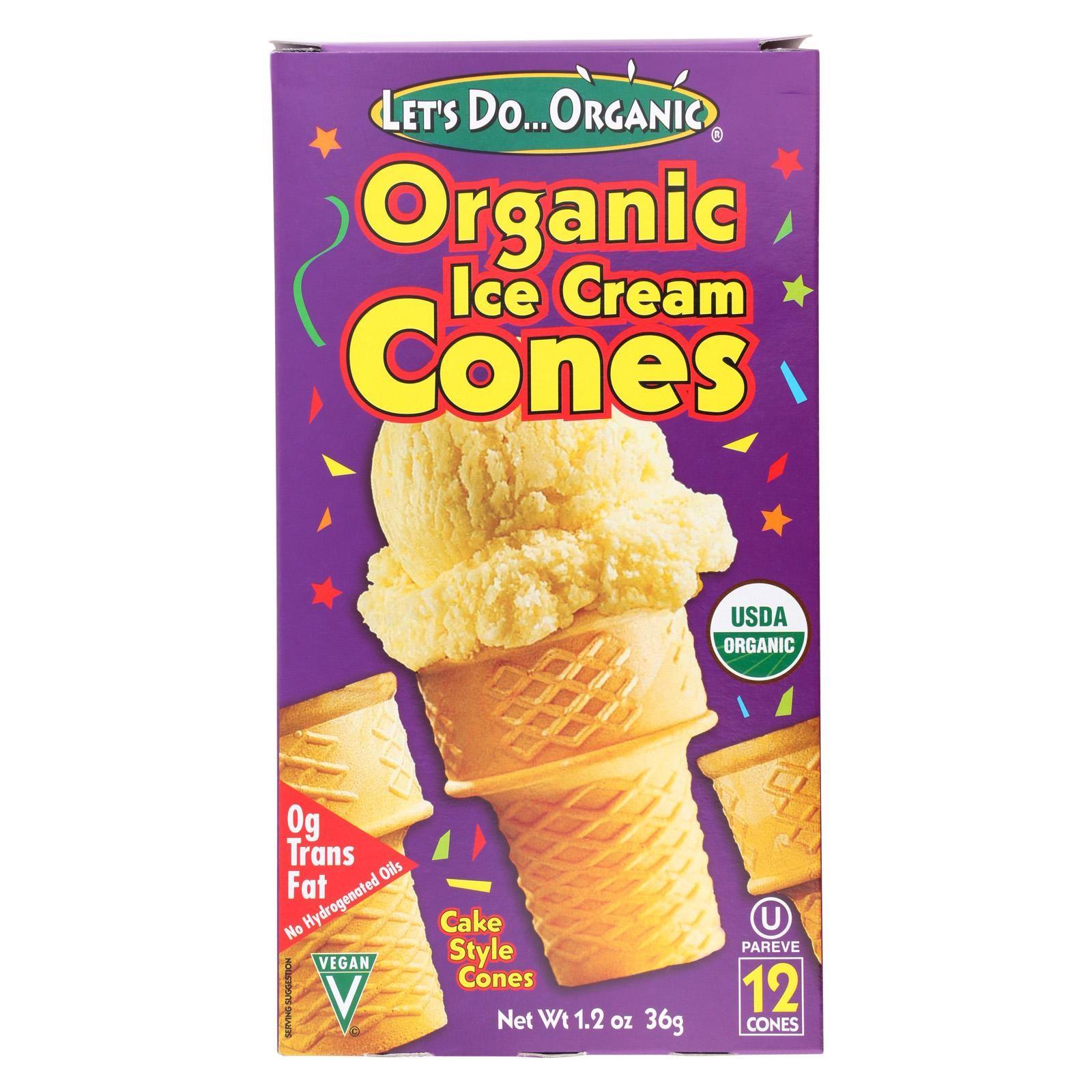 Let's Do Organics Ice Cream Cones - Organic - Pack of 12 - 1.2 Oz.