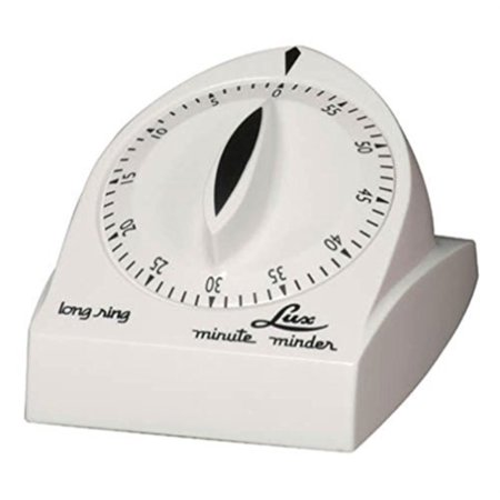 Lux 60 Minute Timer - Lux Minute Minder Long Ring Timer Mechanical White 60 Min by Browne Foodservice