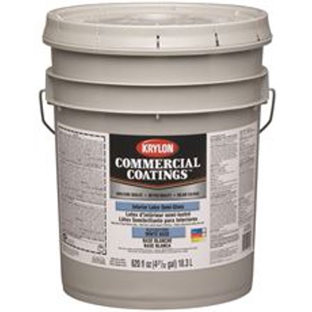 Krylon Interior Semi Gloss White Paint 5 Gallon