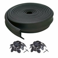 M-D Building Products 3749 Garage Door Bottom Rubber, 16 Feet, Black
