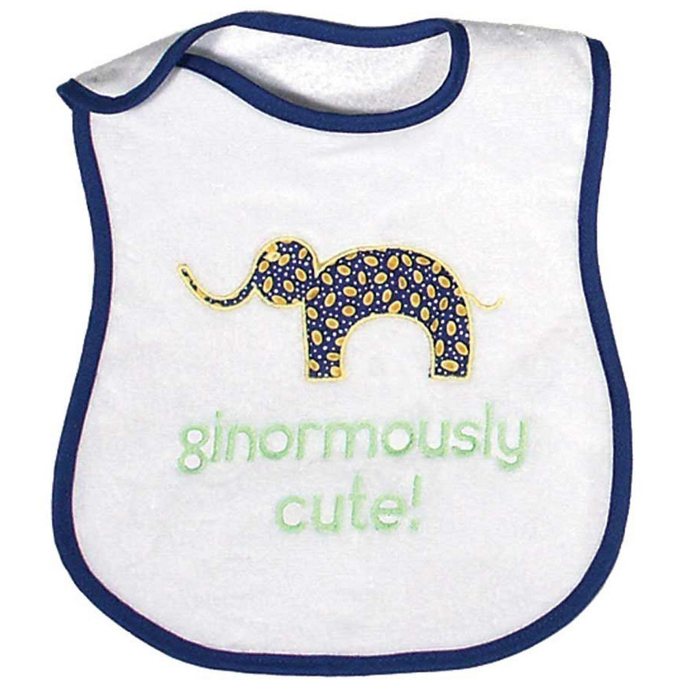 Raindrops A98735R Raindrops Ginormously Cute Appliqued Bib, Royal