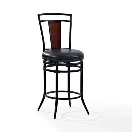 Soho Swivel Counter Stool in Black with Black